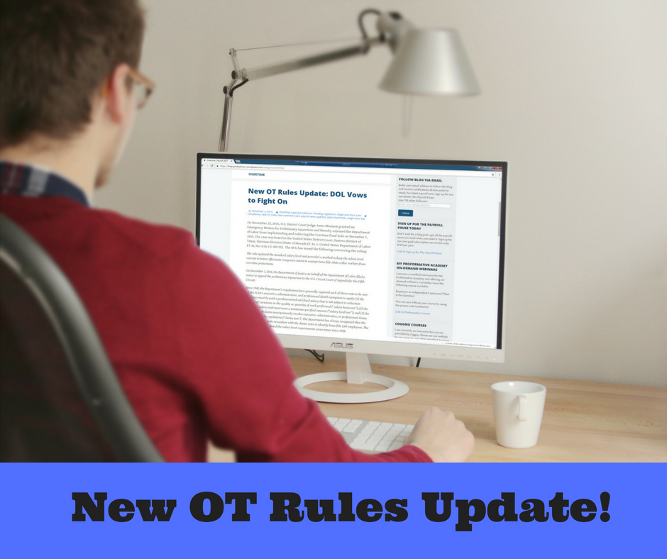 DOl Rules Update